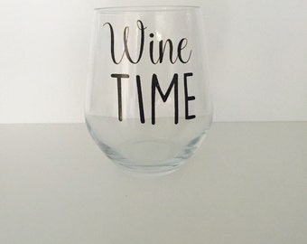 Wine Time wine glass