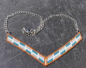 Necklace beads miyuki - bib