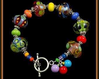 Lampwork Glass Beads Bracelet