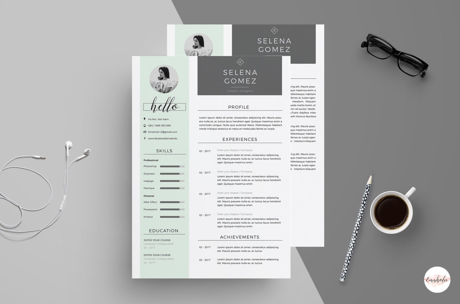 Professional CV and Cover Letter template clean