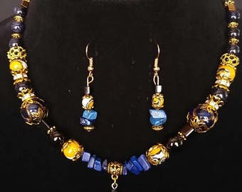 Sold - Egyptian Colors Jewelry Set