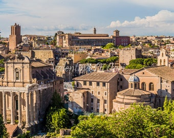 photos of Rome, glimpse of Rome, Italy, Rome, the eternal city, skyline, architecture, hotel, wall art, home décor, gift