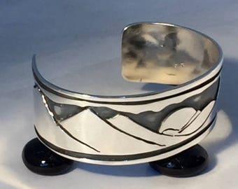ADK (Adirondacks) 67 Silver Collection Cuff/large
