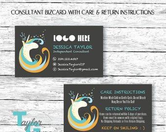 Dot Dot Smile Business Card - Unicorn Business Card - Unicorn Business Card Care Card Return Policy Card