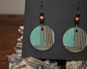 Ceramic dangle earrings