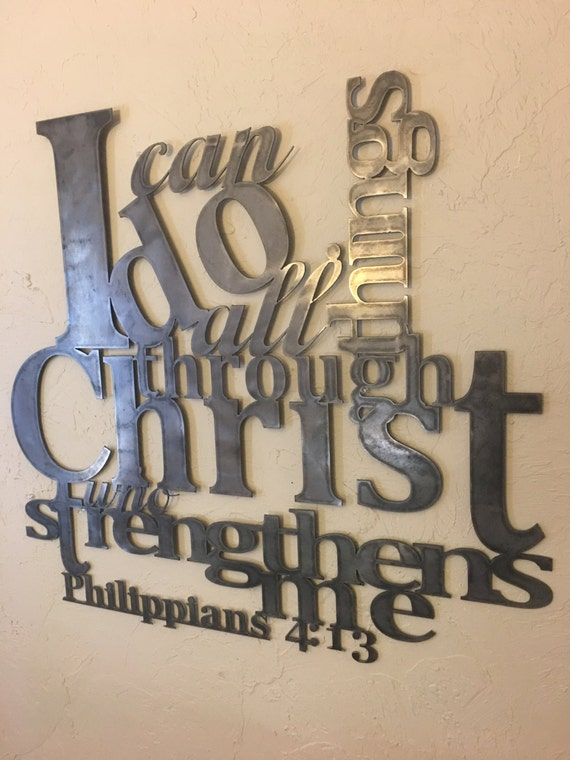 Wall Decor With Bible Verses : Philippians metal wall artphilippians bible