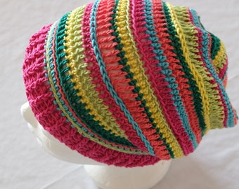 Colorful Beanie, crochet