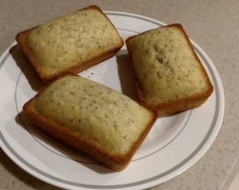 Mini lemon poppy seed bread