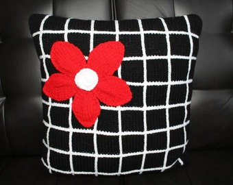 3D Flower Knitted Pillow
