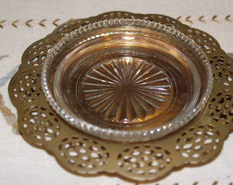 WmA Rogers Brass Ash Tray