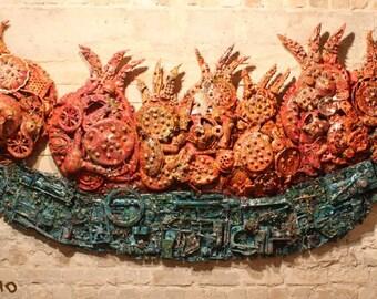 Israeli giant Pomegranate basket -Artwork