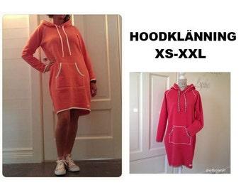 HOODKLÄNNING Hood dress XS-XXL pdf-mönster pdf-pattern