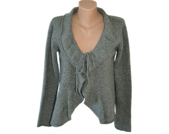 Vintage Hema woman top blouse sweater gray 100% lambswool