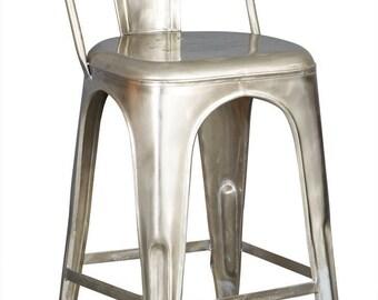 Cosmo industrial reclaimed metal bar stool/chair - Vintage industrial look