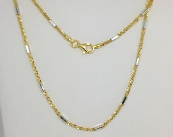 925 Sterling Silver Two-Tone Chain