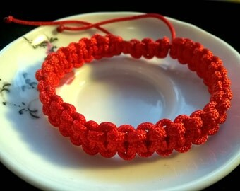 Lucky Double Knots Chinese Red String Bracelet (large)