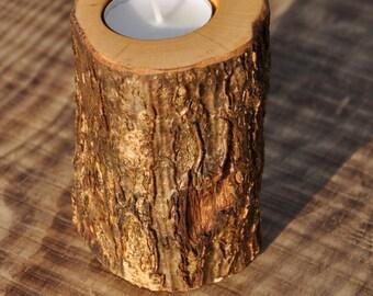 log tealight holder, handmade tealight holder, wood tealight holder, log candle holder, candle holder, tealight holder, rustic tealight