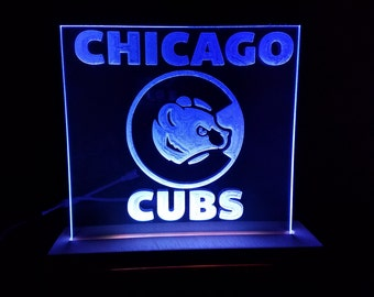 Cubs Bear Edge lit LED - Great for any Cubs Fan
