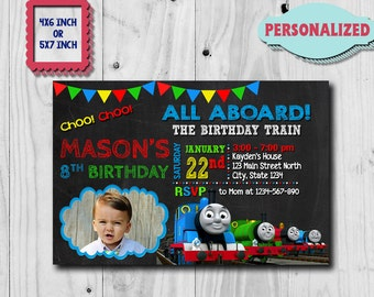 Thomas Train Invitation / Thomas Train Birthday Invitation / Thomas Birthday / Thomas Party / Thomas Printable / Thomas Invite / Thomas Card