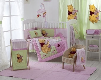 Disney Pink Winnie The Pooh Crib Bedding Collection 4 Pc Crib Bedding Set