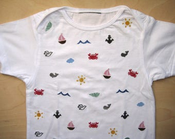 T shirt spread pattern sea 56-104 can be customized