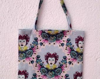 Tote bag Eden blue lined bag, ecobag tote gift gift for her Christmas birthday bag elegant mother's day