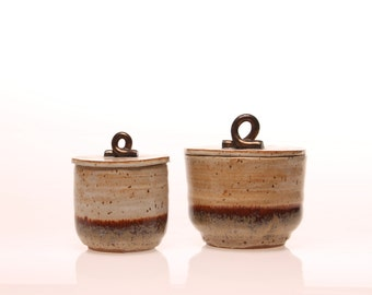 Stoneware Matching Jar Set