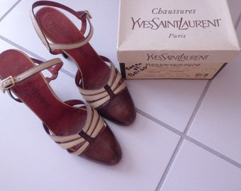 authentic vintage YVES SAINT LAURENT shoes