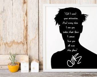 "Justin Bieber ""Girl I Need Your Attention"" Art Print"