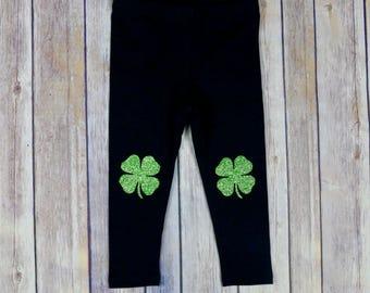 Leggings, Shamrock Leggings, Four Leaf Clover, Irish, Shamrock Clothes, St. Patrick's Day