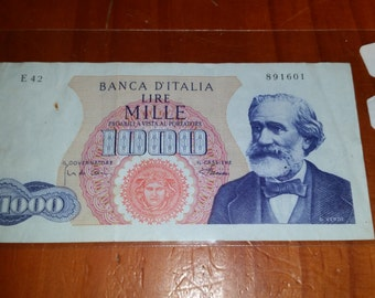 Circulated Italy Note 1962