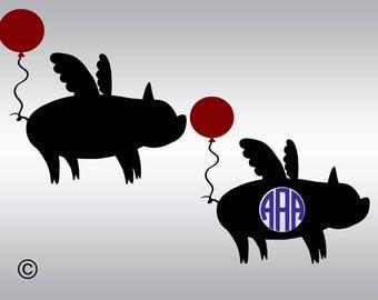 Show pigs svg, Flying pig svg, Pig svg, Farm animal svg, Livestock svg, Monogram svg, Cricut, Cameo, Cut file, Clipart, Svg, DXF, Png, Eps