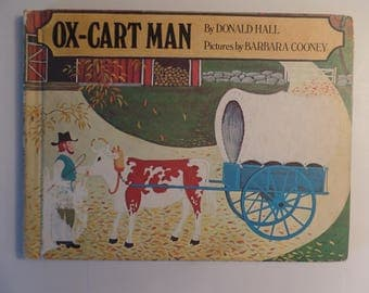 Ox-Cart Man by Donald Hall Barbara Cooney Illustrations 1979 Vintage Children's Book Library