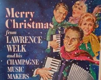 Lawrence Welk Vinyl Record Set Vintage Music Christmas