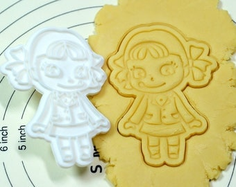 Pecochan wearing School Uniform Cookie Cutter and Stamp