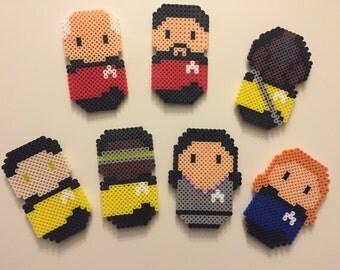 Star Trek: Next Generation Characters Magnet Set - Perler Beads
