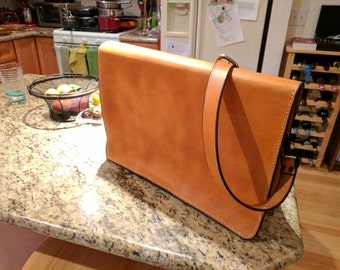 Bespoke Leather Messenger Bag