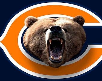 New! FAST N FREE SHIPPING! - Chicago Bears Custom Logo Wall Decal