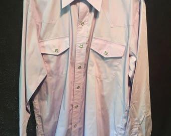 Malco Modes vintage size 17  34 usa made western shirt