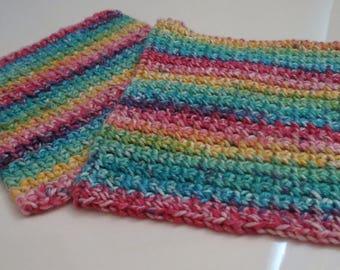 Rainbow Washcloths