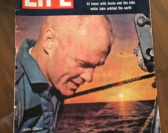 Vintage Life Magazine from March 2,  1962, The John Glenn Story, 1960's, history