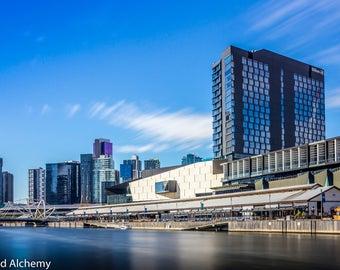 Melbourne skyline color photography