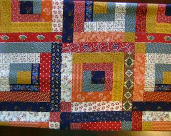 3 Yards Vintage Patchwork 1980's Cotton Fabric