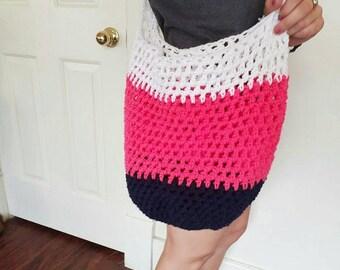 Crochet Market Bag, Beach Bag, Crochet Bag, Market Bag, Green Tote Bag, Crochet Cotton Bag, Grocery Bag, Farmers Market Bag, Shopping Bag