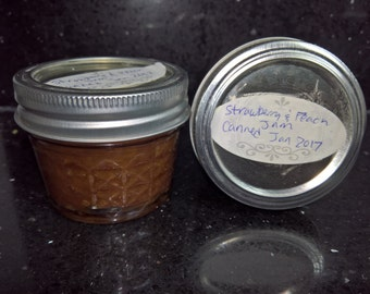 All Natural Home Made Strawberry and Peach Jam