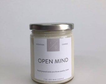 OPEN MIND essential oil soy wax candle