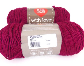 Boysenberry - Red Heart With Love worsted weight 100% acrylic yarn - 2601