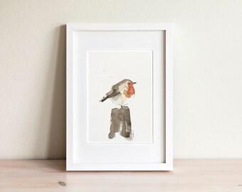 Bird watercolor illustration - handmade