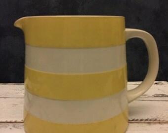 vintage striped jug, food photography prop, food styling prop