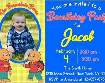 Berenstain Bears Birthday Invite